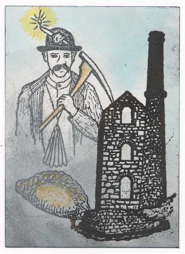 Mists of Time, Cornish miner, rubber stamps by Kim Victoria for Highlander Celtic Stamps